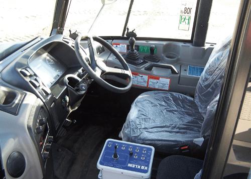 KLEIN WATER TRUCK CAB INTERIOR
